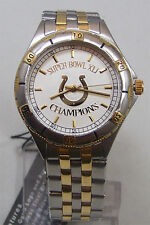 Indianapolis Colts Super Bowl XLI Watch Gold Logo Mens Game Time, New