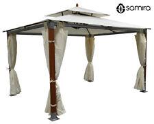 Gazebo da giardino 3x4 in legno-alluminio