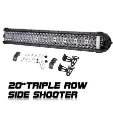 Side Shooter LED Light Bar Spot Flood Combo Triple Row Work Light Bar JEEP 12V