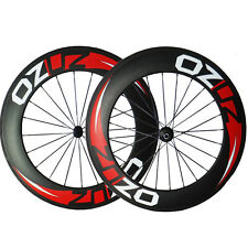 OZUZ 700C 88mm Carbon Road Bike Cycling Wheels Cincher Carbon Fiber Wheelset