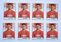 x8 🔥 MASON GREENWOOD 🔥 ROOKIE LOT  PANINI Stickers Premier Football HOT INVEST