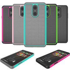 For LG Stylo 4/5/5V/5X/Plus/6 Silicone Phone Case Hybrid Rugged Shockproof Cover