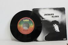 """45 RECORD 7""""- JACQUES KLOES - DON'T BREAK MY HEART"""