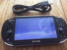SONY PS VITA CONSOLE WIFI ONLY PCH-1004 PLAYSTATION PSVITA OLED WI-FI GOOD 3.18