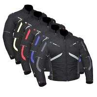 Motorcycle Motorbike Cordura Men's Jacket Waterproof Textile CE Armoured