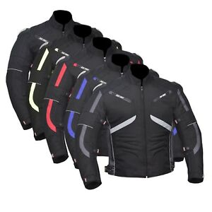 Motorcycle Motorbike Cordura Men's Jacket Waterproof Textile CE Armoured
