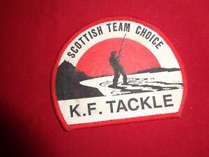 Vintage K F Tackle Cloth Fishing Tackle Badge.