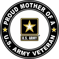 """Proud Mother of a US Army Veteran 3.8"""" Sticker / Decal 'Officially Licensed'"""