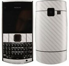 Skinomi Carbon Fiber Silver Skin Cover+Clear Screen Protector for Nokia X2-01
