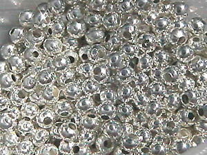 4mm Silver Plated Round Beads (100)