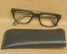Vintage Safety Glasses Eye Industrial Goggles Nerd Buddy Holly Frame + Pouch