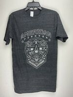 American Fighter by Affliction Short Sleeve T-Shirt Mens Gray Size S