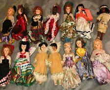 "lot 13 Vintage Arco-Atlantic Richfield 7"" Doll Plastic Usa Antique Sleep Eyes"
