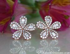 Feminine Diamant Ohrstecker im Blumen Design, 1.55 ct. TW SI Roségold 750 4750€