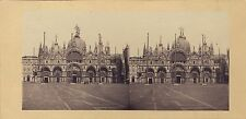 Venise St Marc Italie Italia Stéréo Stereoview Vintage albumine ca 1860