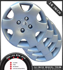 "CITROEN BADGED 14"" WHEEL TRIM HUB CAP COVER SET OF 4 14"" TRIM DL6055-14-CT2"
