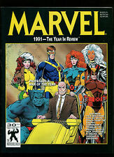 MARVEL 1991-THE YEAR IN REVIEW MAGAZINE-NEW-UNREAD-X-MEN EXPOSE-SPIDERMANSMEARED