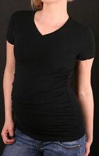 Umstandsmode*Umstandsshirt*T-Shirt*Shirt*schwarz*V Ausschn.*Unigröße*ausverkauf