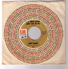 sunshine pop soft rock 45 Larry Marks LA Break Down A&M 1968 Jack Jones covered