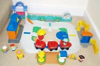 Fisher Price Little People Sound Station Train Track Park 5 Figures  Bundle