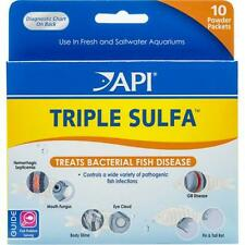API Triple Sulfa Antibacterial Aquarium Powder 10 Packets