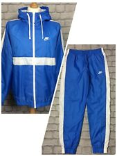 NIKE MENS LIGHT BLUE HOXTON WOVEN HOODED POLY FULL ZIP TRACK TOP RRP £70 PANTS