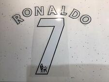 Manchester United Shirt Plastic NameSet Ronaldo 2007-2008 White Sporting Id Mufc