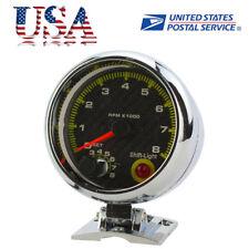 Adjust 12V Universal Car 3.75'' RPM Tachometer Tacho Gauge With Shift Light USA