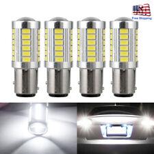 4Pcs LED Car Bulbs BA15D P21W 1157 Backup Reverse Light 33-SMD Tail Brake Lamps
