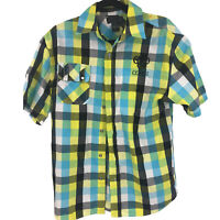 Coogi Adult Button Front Up Shirt Multicolor Check L Large Mens