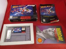 Mega Man X2  (Super Nintendo SNES 1996) COMPLETE w/ Box game WORKS! Megaman