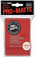 Ultra Pro Sleeves Pro-matte D12 Card Game Red