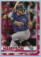 2019 Topps Series 1 Garrett Hampson Rookie #85 Independence Day Parallel #'d /76
