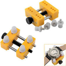 Watch Case Holder Vise Movement Repair Tool Jewelers Battery Replacement