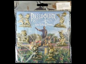 Disney Pin WDW 2016 Annual Passholder Gold Statue Set Minnie Dumbo Donald Brer