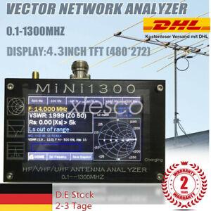 "Mini1300 HF/VHF/UHF Antenna Analyzer 0.1-1300MHz 4.3"" TFT LCD w/ Shell 【DE】"