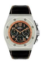 Rotary AGS00022/C/19 Gents Chronograph Black Leather Strap Watch