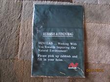 Minelab Metal Detector Rubbish & Finds Pouch / Coin / Whites / Fisher / Garrett