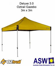 3m x 3m Oztrail Gazebo DELUXE 3.0 YELLOW Instant Fold Marquee G-OZD3.0