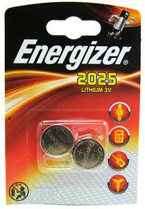 2 Energizer CR2025 DL2025 SBT-14 3v Lithium Coin Cell Battery