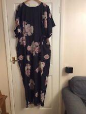 ASOS Ladies Long Dress Grey & Pink Floral Size 22