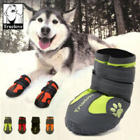 Truelove Dog Shoes Waterproof Anti-Slip Rain Boots Reflective 4 Colours 8 Size