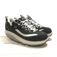 Sketchers Shape Ups 11809 Walking Toning Shoes Black White Bling Womens US Sz 10