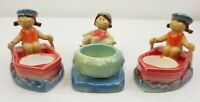 Yankee Candle Tea Light Candle Holders Girl On Boat Girl In Tube Beach Set of 3