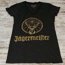 Jagermeister t shirt Size Small  black womens gold