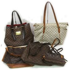 Louis Vuitton Monogram Damier Azur Shoulder Bag Hand Bag 5pc set 517573