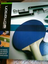 Emerson Portable Table Tennis Set Includes 2 Paddles, 3 Balls Net and Posts NEW