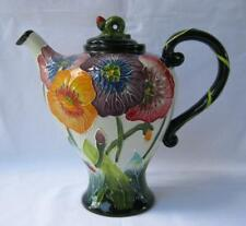 Blue Sky Clayworks Poppy Flowers Teapot Jeanette McCall Icing on the Cake New