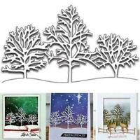 Stencil Embossing Craft Paper Karten DIY Christmas Stanzformen Snow Tree E4G8