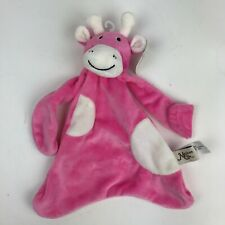 New MAISON CHIC Pink GIRAFFE Cow SECURITY Blanket LOVEY Velour BABY Pacifier Nwt